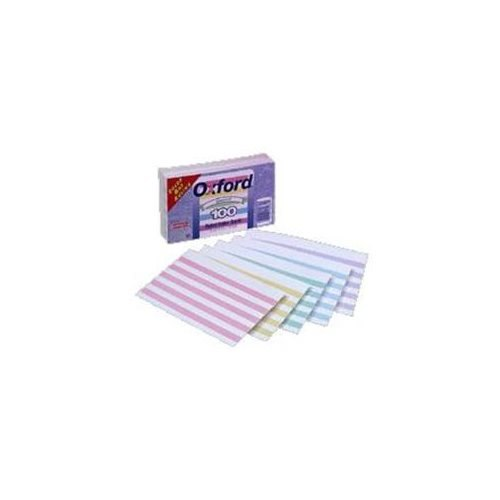 Index Cards, Ruled With Color Bars, 3