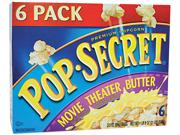 Pop Secret 57700 Microwave Popcorn, Movie Theater Butter, 3.5 Oz Bags, 6 Bags/box