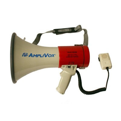Amplivox Sound Systems S602mr Mity Meg Plus Rechargeable 25 Watt Dynamic Megaphone With Microphone