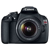 "Canon Eos Rebel T5 18 Megapixel Digital Slr Camera With Lens - Black - 3"" Lcd - 16:9 - 3.1x Optical Zoom - Optical (is) - 5184 X 3456 Image - 1920 X 1080 Video - Hdmi - Pictbridge - Hd Movie Mode 9126b003"