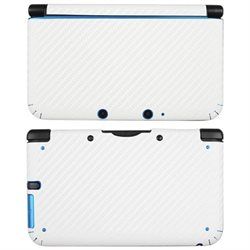 eForCity Carbon Fiber Decal Sticker Compatible with Nintendo 3DS XL, White