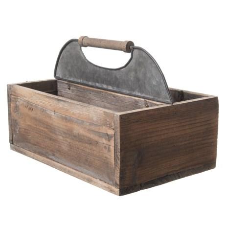 Wood And Tin Tool Box