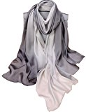 K-ELeven Silk Scarf Gradient Colors Scarves Long Lightweight Sunscreen Shawls for Women SK073-A