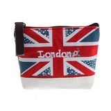 Usstore Union Jack Embroidered Admission Package Canvas Coin Purse Hand Bag