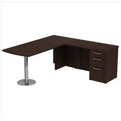 BBF 300 Series 72W x 30D Peninsula Desk L-Station w/3Dwr Pedestal