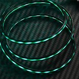 SPPQ Visible Flowing Current LED Blue Light IOS Charger & Date Sync Cable Date Transfer for Iphone 5 5c 5s 6 6s 6plus Ipod Nona 7 Ipod Touch5 Ipad4 Ipad Mini (Green)