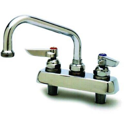 T&s Brass B-1110 2-handle Kitchen Faucet In Chrome With Swing Nozzle