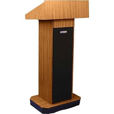Amplivox Sound Systems W505-mo Executive Column Lectern - Non Sound  Medium Oak