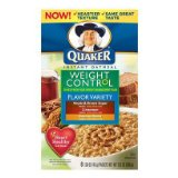 Quaker Oatmeal Instant Oatmeal Weight Control Flavor Variety 1.58 Oz - 12 Pack
