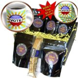 cgb_155092_1 Carsten Reisinger Illustrations - USA vote button design round pin rays concept election elections voting politics political - Coffee Gift Baskets - Coffee Gift Basket