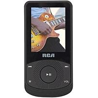 "RCA M6504 4 GB Black Flash Portable Media Player   Audio Player, Video Player, Photo Viewer, FM Tuner, Voice Recorder   1.8"" Color LCD   Battery Built in   USB   Headphone"
