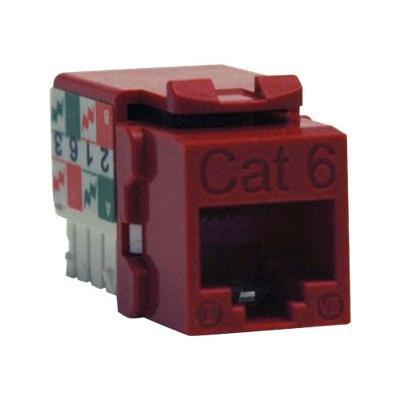 Tripplite N238-001-rd Cat6/cat5e 110 Style Punch Down Keystone Jack - Red