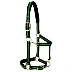 Weaver Leather Padded Adjustable Snap Halter Avg Horse/Yrlg Draft Green