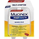 Mucinex Fast-Max Severe Cold Caplets, 20ct