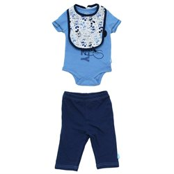 Mickey Mouse Walt Disney Baby Creeper Romper Snapsuit With Pants And Bib 3 Piece