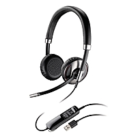 Plantronics Blackwire C720 Headset - Stereo - Black - Usb - Wired/wireless - Bluetooth - 20 Hz - 20 Khz - Over-the-head - Binaural - Supra-aural - Noise Cancelling Microphone 87506-02