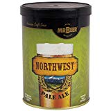 Mr. Beer Northwest Pale Ale 2 Gallon Homebrewing Craft Beer Making Refill Kit with Sanitizer, Yeast and All Grain Brewing Extract