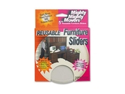 Master Caster 87007 Mighty Mighty Movers Nonstick 5 Diameter Furniture Sliders  Beige  4 Pack