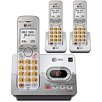 The ATT EL52303 3 Handset Cordless Phone features DECT 6.0 technology for increased clarity, enhanced security, and wider range