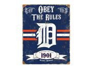 Detroit Tigers Vintage Metal Sign