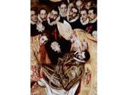Posterazzi Sal3804412585 The Burial Of Count Orgaz - Detail El Greco 1541-1614 Greek Iglesia Santo Tome Toledo Spain Poster Print - 18 X 24 In.