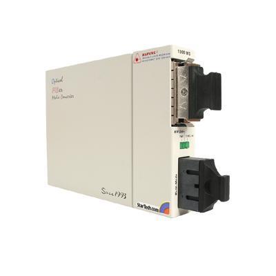 Gigabit Single to Multi Mode Fiber Media Converter - SC 10 km - media converter