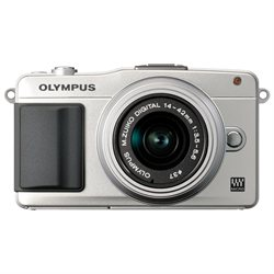 Olympus PEN E-PM2 Mirrorless Digital Camera with 14-42mm f/3.5 II Lens (Silver   Silver Lens)