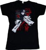 Soul Eater: Death the Kid Blood Splatter Junior T-Shirt, X-Large