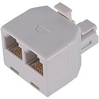 Ge 76191 (white) Duplex In-wall Adapter - White