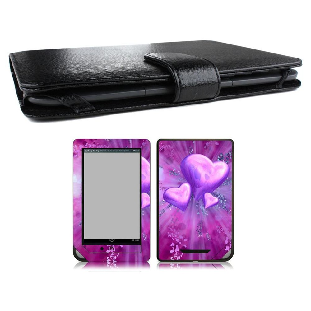 Bundle Monster Nook Color Nook Tablet Cover Case, Skin, Screen Guard Combo GA60