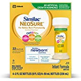Similac NeoSure Infant Formula with Iron, For Babies Born Prematurely, Ready-to-Feed bottles, 2 fl oz, 8 Bottles