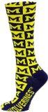 NCAA Michigan Wolverines Checkerboard Dress Socks