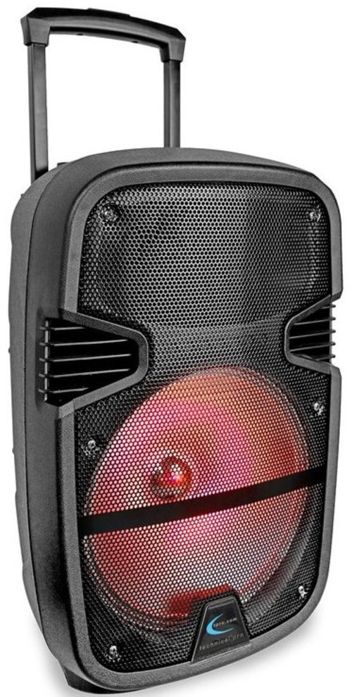 Technical Pro Pb1400led 12-inch Led Active Bluetooth Loudspeaker With Rechargeable Battery - 2000 Watts - Black