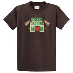 Cheerleading T-Shirt Cheer Mom Pom Poms Loud Megaphone-brown-xxl