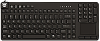 Man & Machine Really Cool Touch Keyboard - Cable Connectivitytouchpad - Compatible With Computer - Black Rct/b2