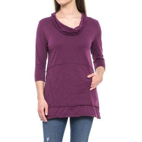 Charlton Tunic Shirt - Cowl Neck, 3/4 Sleeve (for Women)