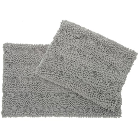 Astor Chenille Bath Rug Set - 2-piece, Light Grey