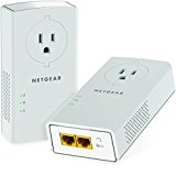 NETGEAR Powerline adapter 2000 Mbps (2) Gigabit Ethernet Ports with Passthrough   Extra Outlet (PLP2000)