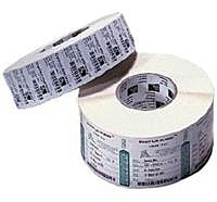 A white thermal transfer paper label with general purpose permanent acrylic based adhesive