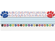 Paw Prints Left/Right Alphabet Nameplate, 11 1/2