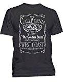 California Republic Bear West Coast T-shirt California Shirts X-Large Black