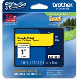"Brother TZE651 Label Tape - 1"" Width x 26.20 ft Length - 1 Each"