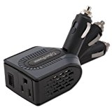CyberPower CPS100BU 100 Watt Swivel Head Mobile Power Inverter with USB Charging Port and AC Outlet (Black)