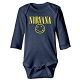 Welcome Header Nirvana Logo Cute Baby Onesie Cotton Toddler Clothes