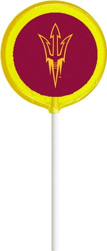 Arizona State Lollipals - 6 Lemon University Lollipops, Perfect for Students, Alumni, Tailgates, or Game Day!