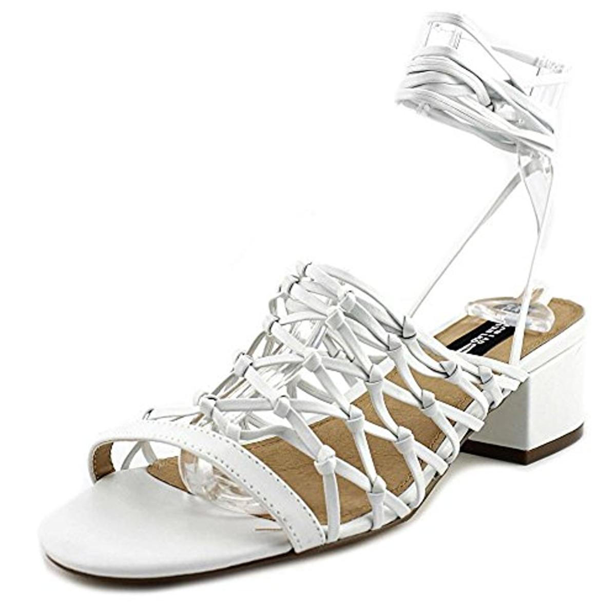 Design Lab Womens Mya Wrap Open Toe Heels