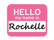 Rochelle Hello My Name Is Mousepad Mouse Pad