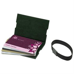 LUCRIN - Case for loyalty Cards - Smooth Cow Leather - Green
