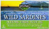 Wild Planet Wild Sardines in Extra Virgin Olive Oil, Lightly Smoked, 4.375 Ounce Tin (Pack of 12)