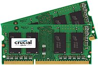 Crucial 4gb Ddr3 Sdram Memory Module - 4 Gb (2 X 2 Gb) - Ddr3 Sdram - 1600 Mhz Ddr3-1600/pc3-12800 - Non-ecc - Unbuffered - 204-pin - Sodimm Ct2kit25664bf160b